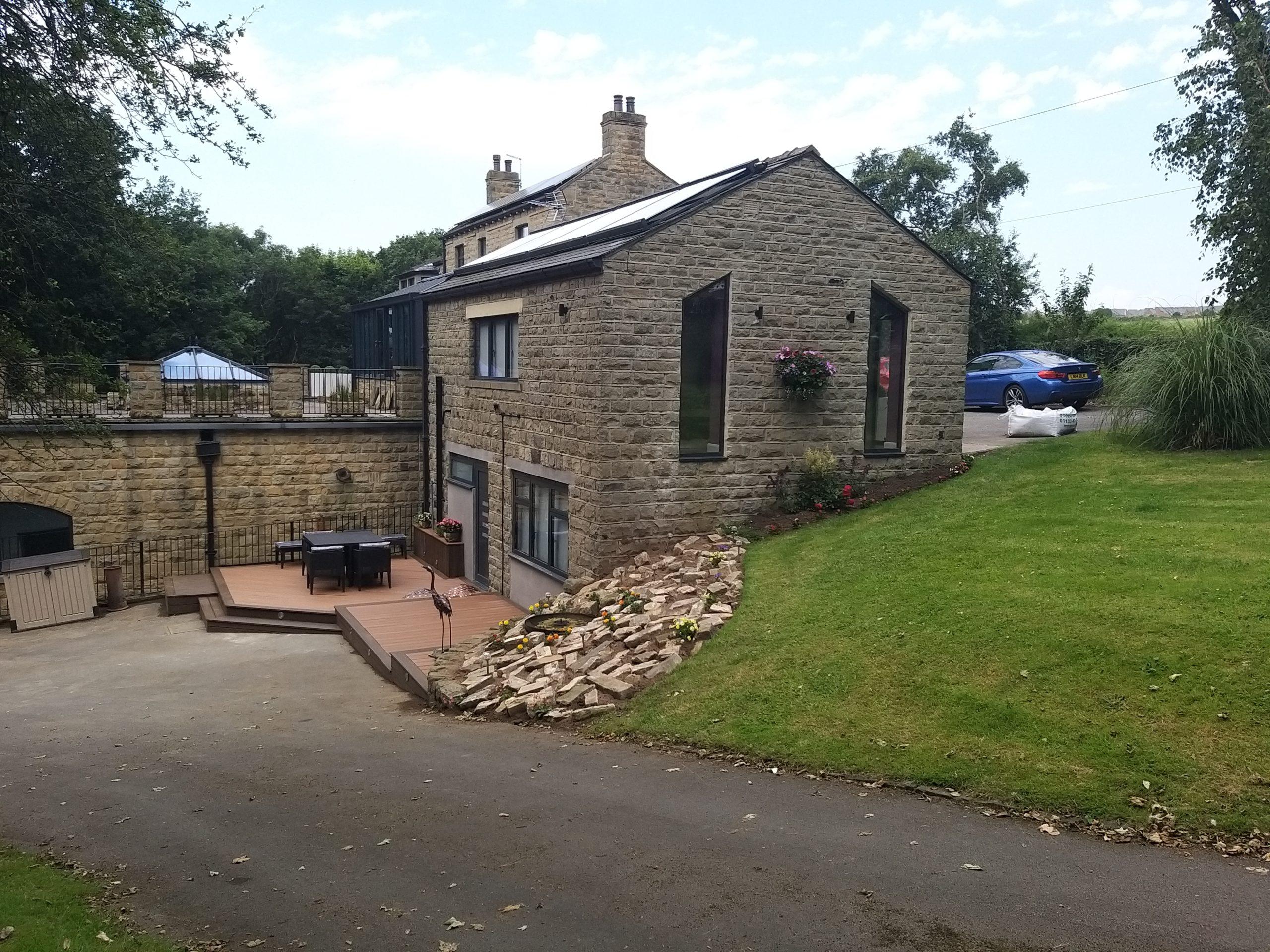 double storey garage conversion alongside house