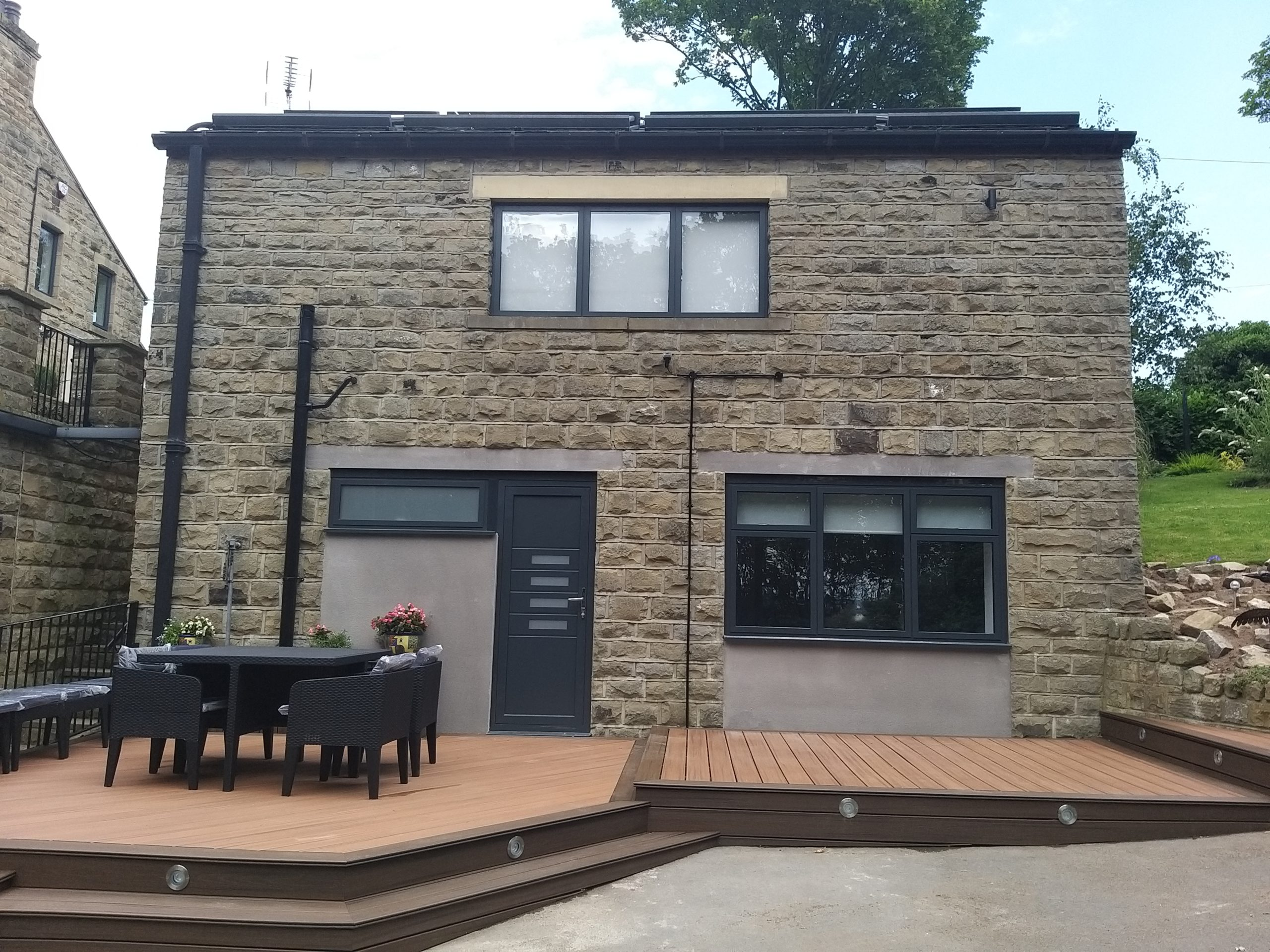 outer front of garage conversion