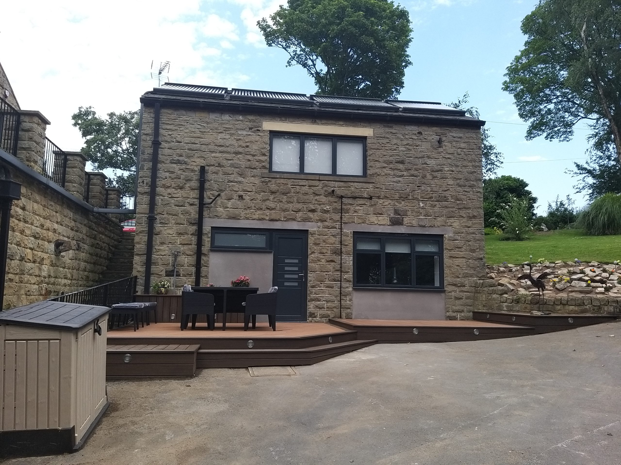 outside view of double storey garage conversion