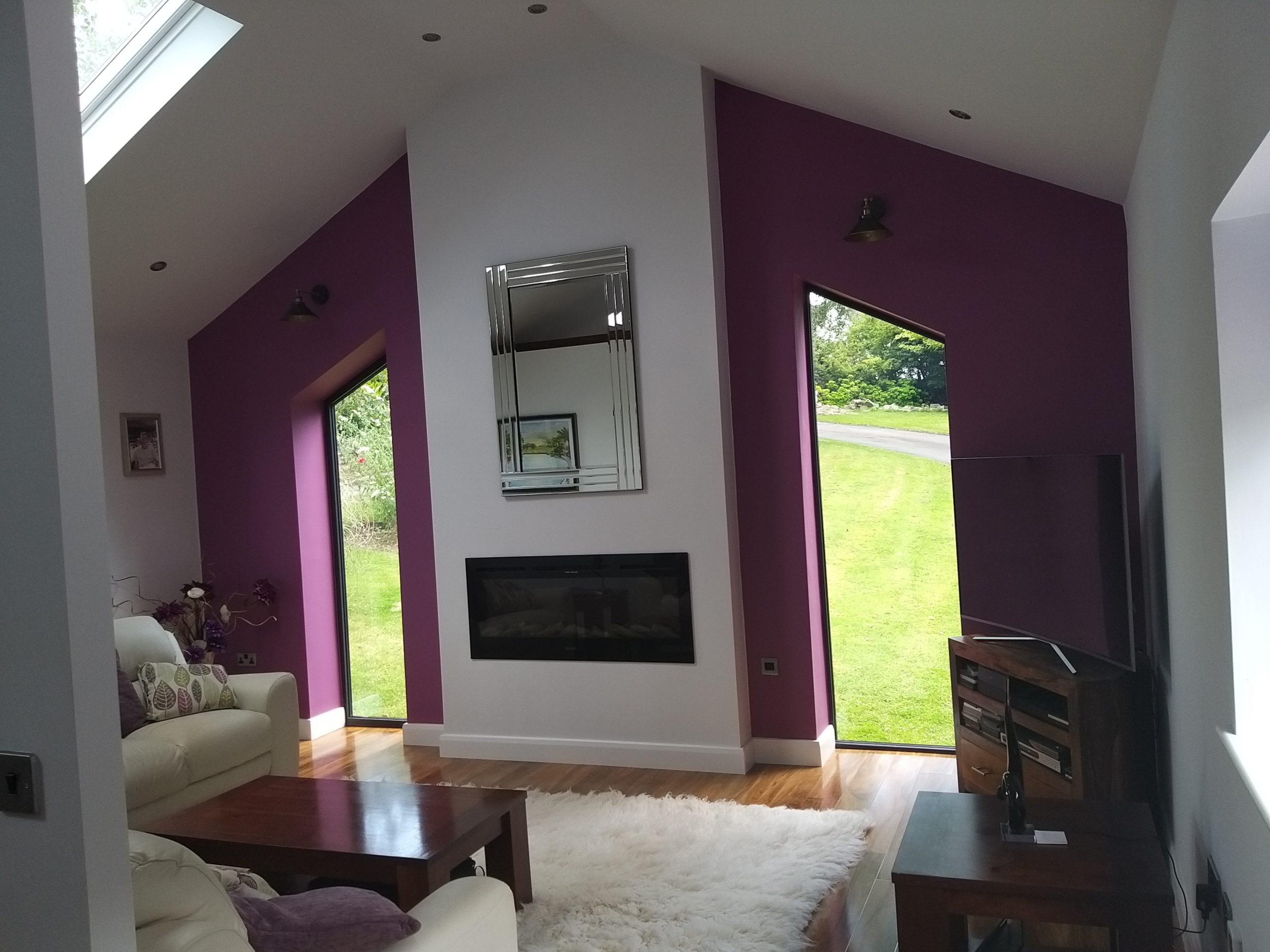 Living room of garage conversion