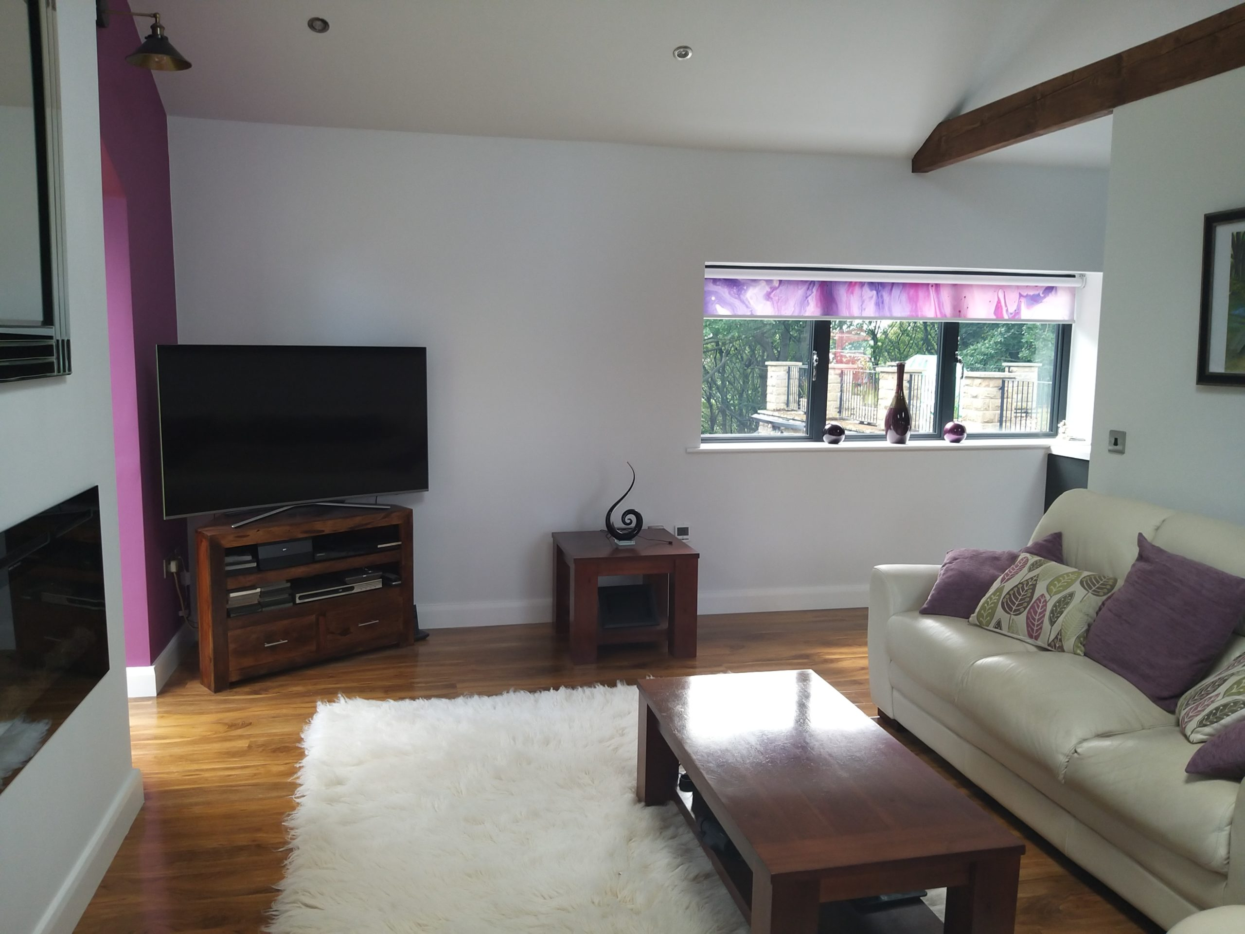 living room of a garage conversion