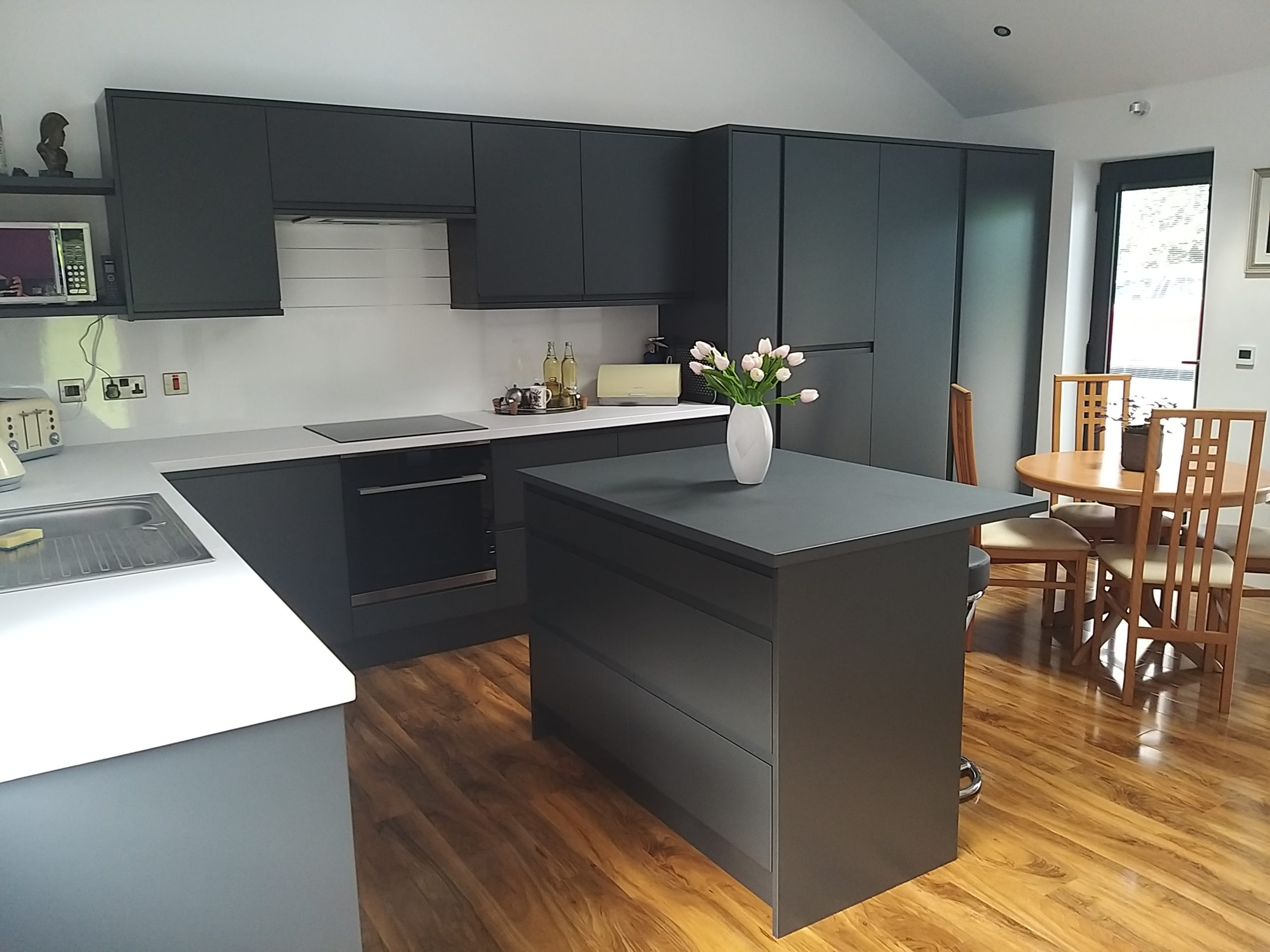 Kitchen of a garage conversion