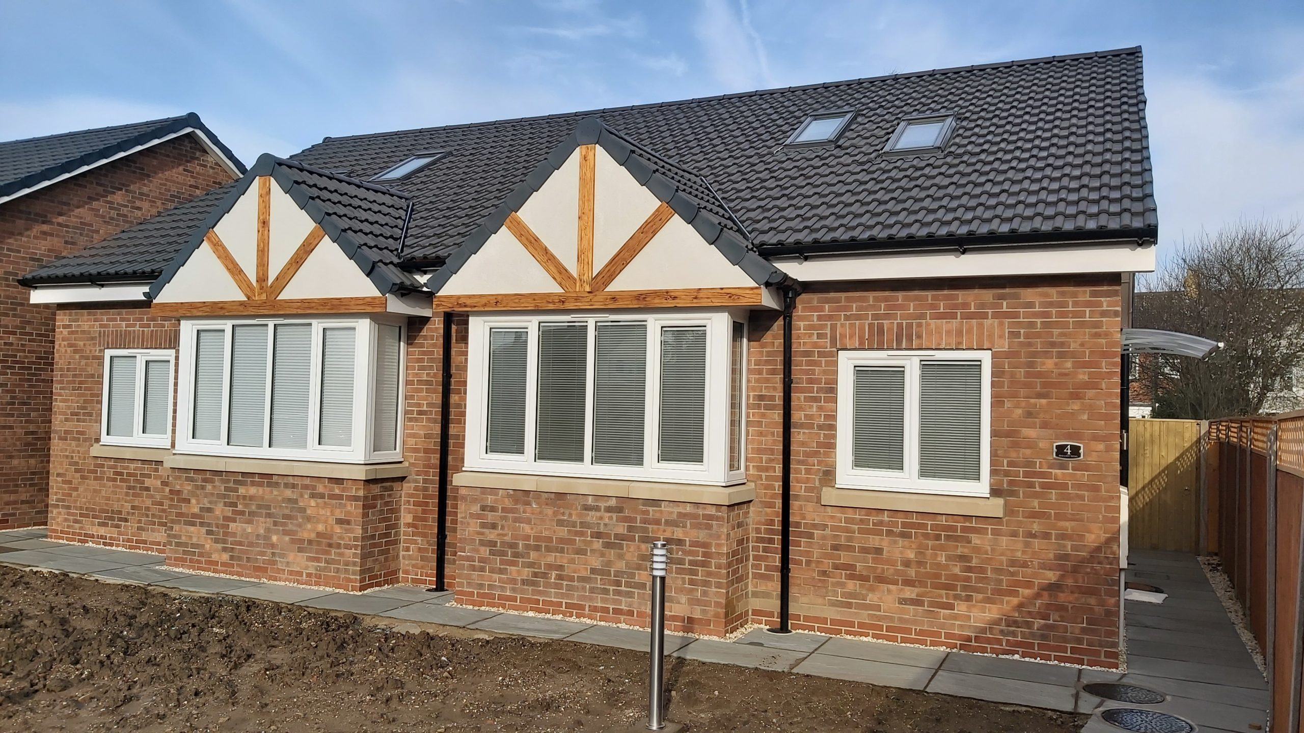 Individual shot of newly built bungalow