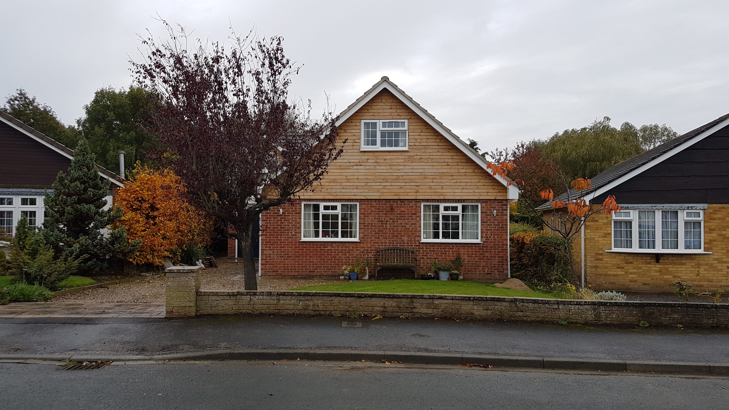 street view of bungalow with roof lift
