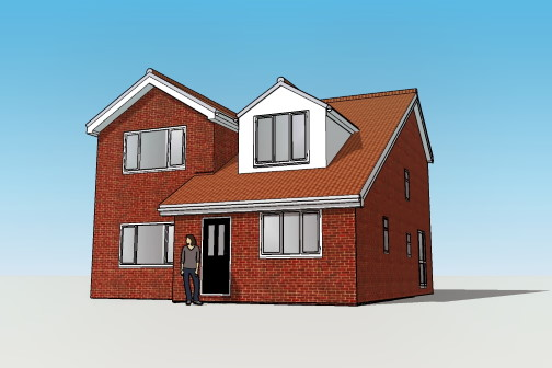 Newly built house in 3D visualisation tools