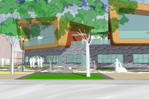3D Concept design of architectural project