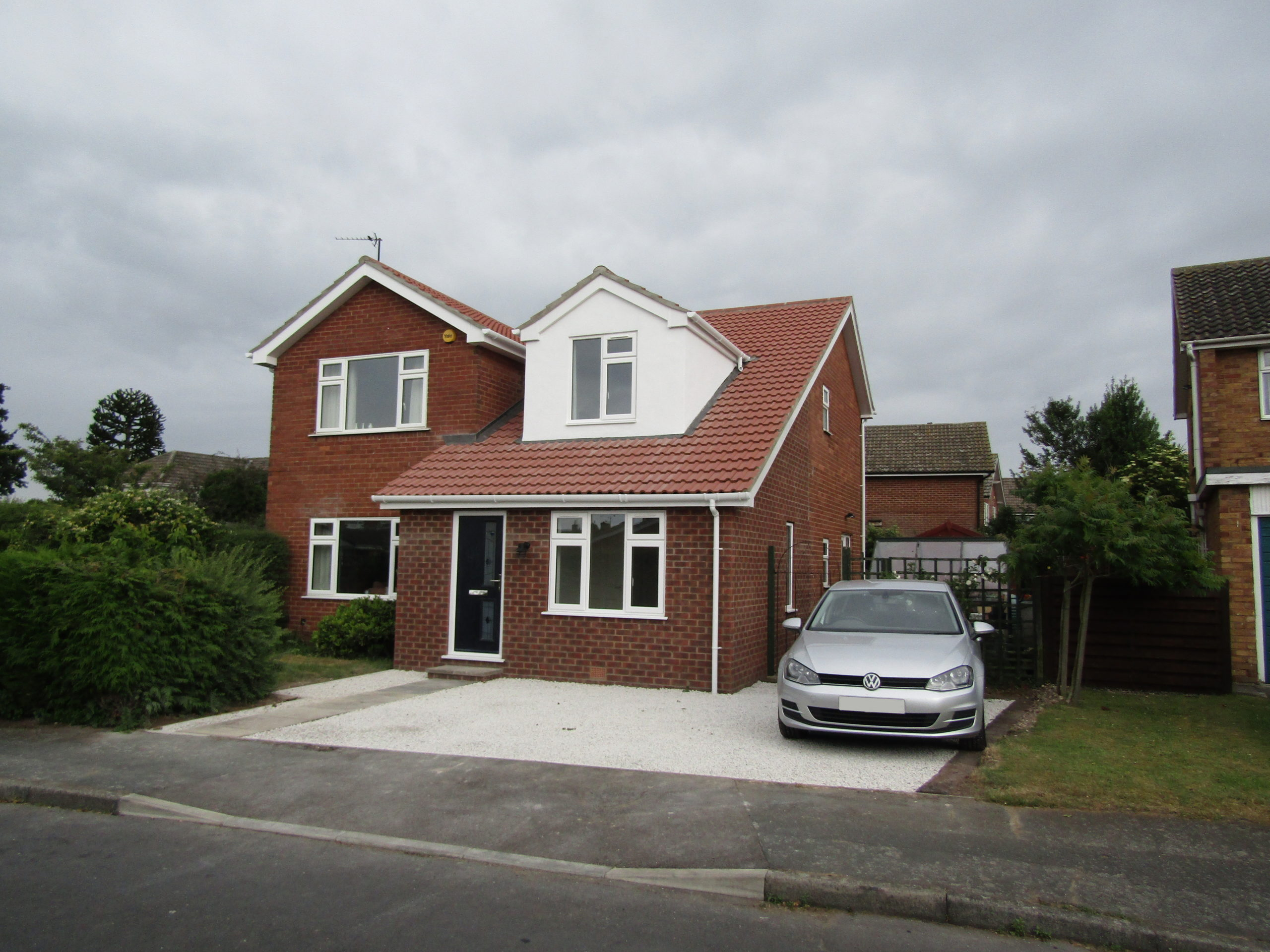 adjacent view of extension and loft conversion