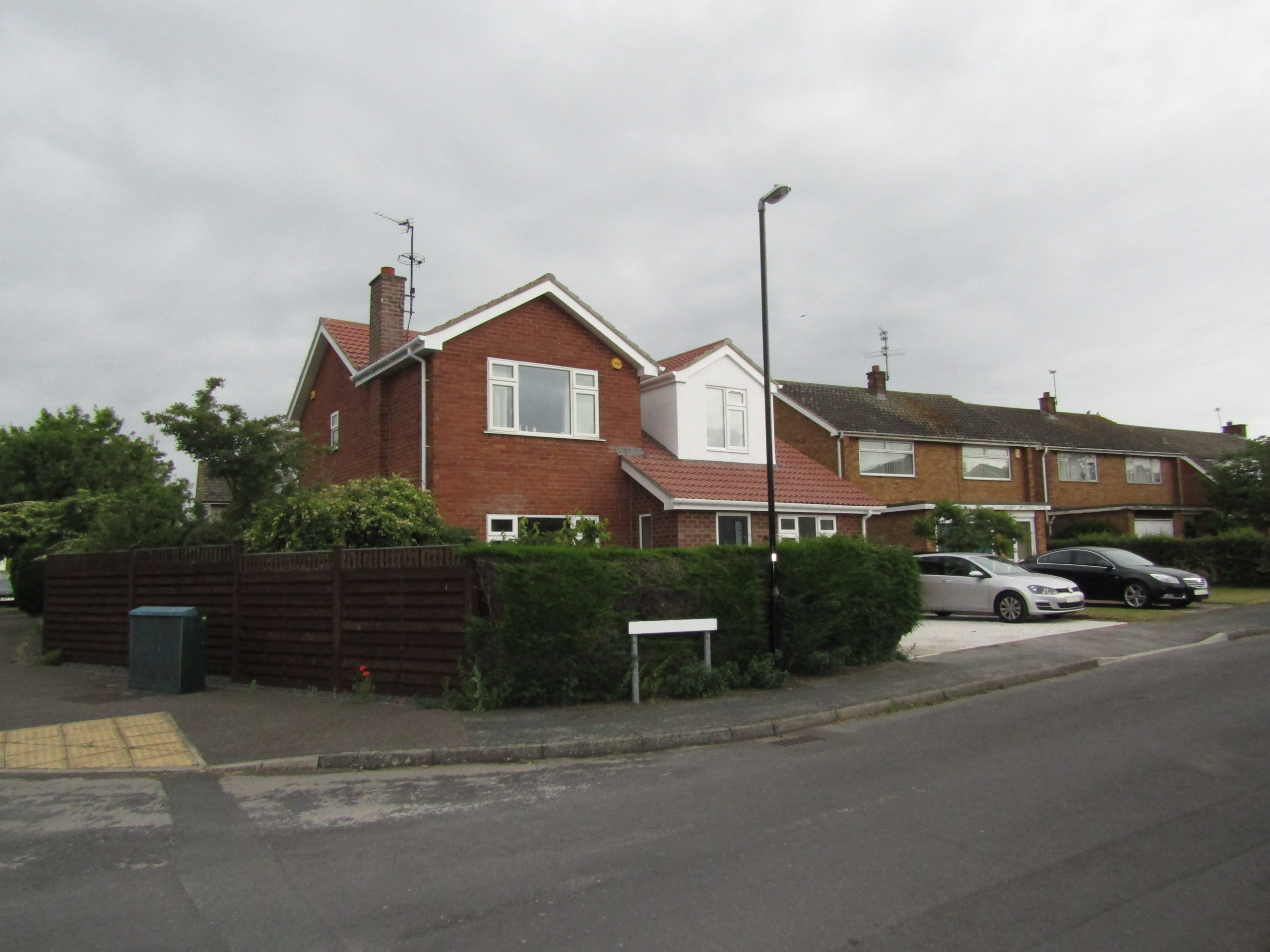 Street front view of house extension and loft conversion
