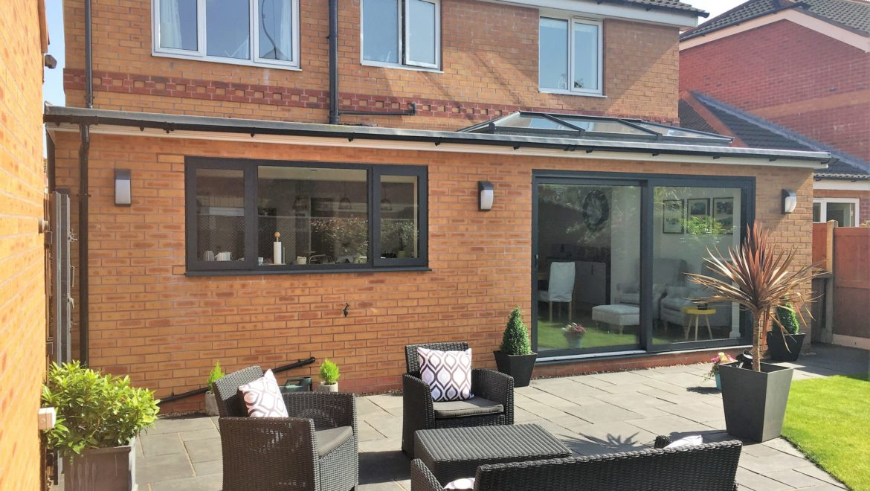 Single storey house extension designed online