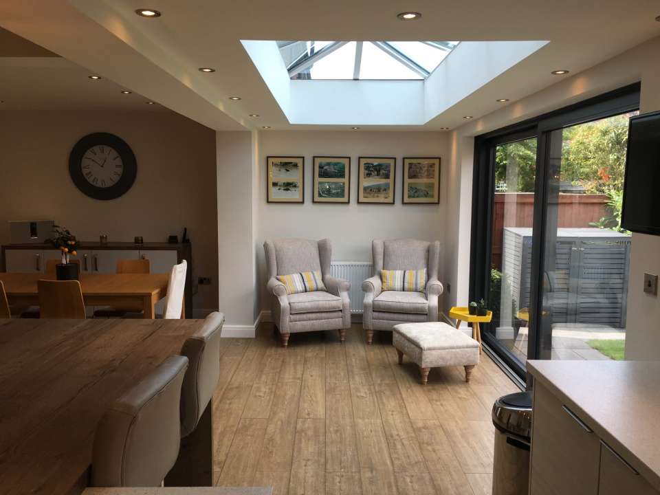 single storey extension skylight view