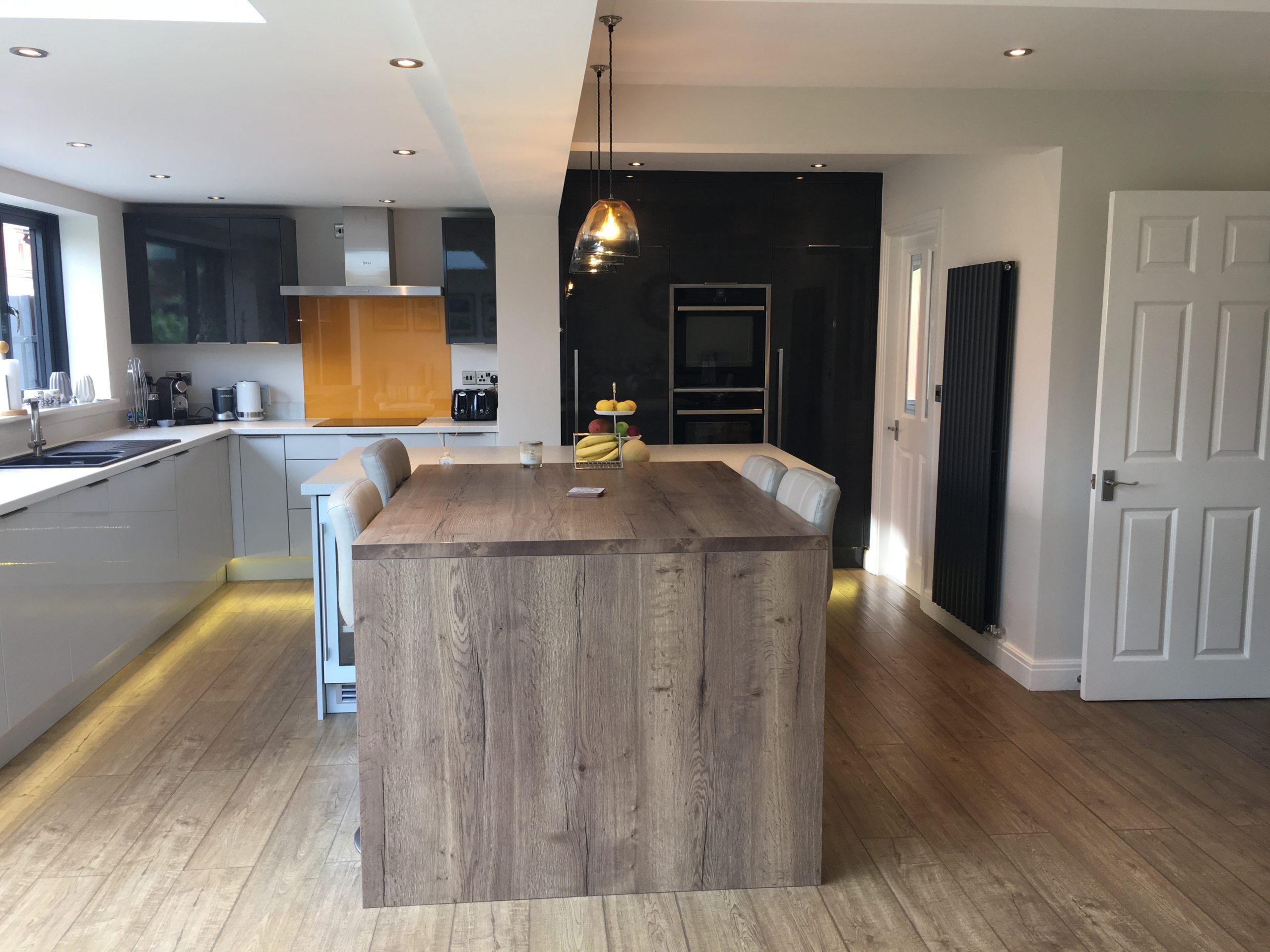 Kitchen of modern single storey extension in Leeds