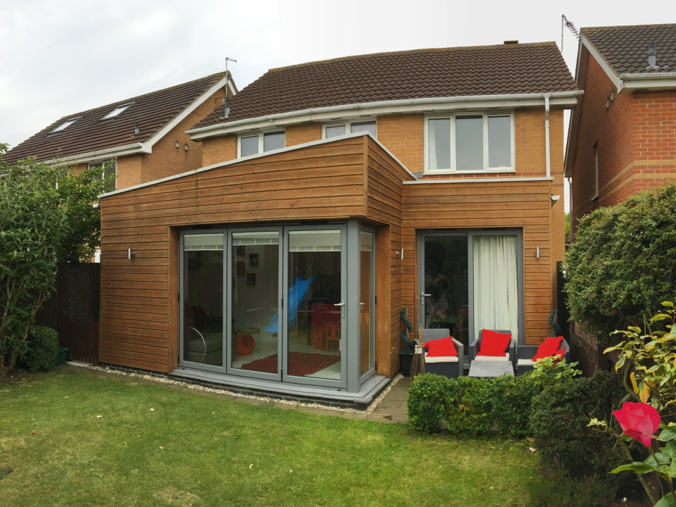 Garden view of small single extension