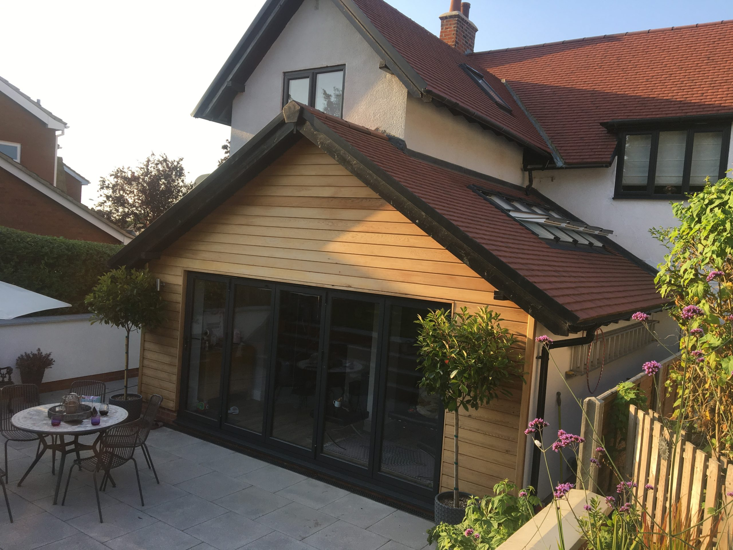 Outside view of rear single storey extension