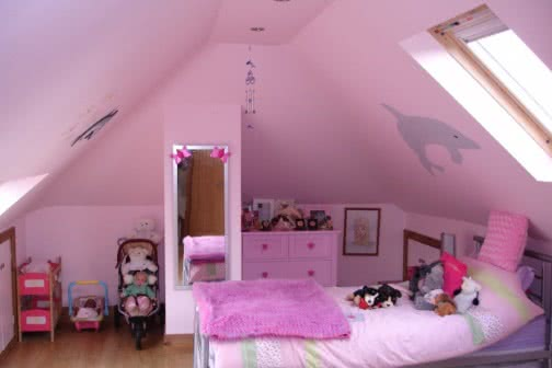 Pink loft conversion in Leeds