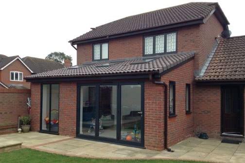 Single storey house extension with bifold doors in Leeds