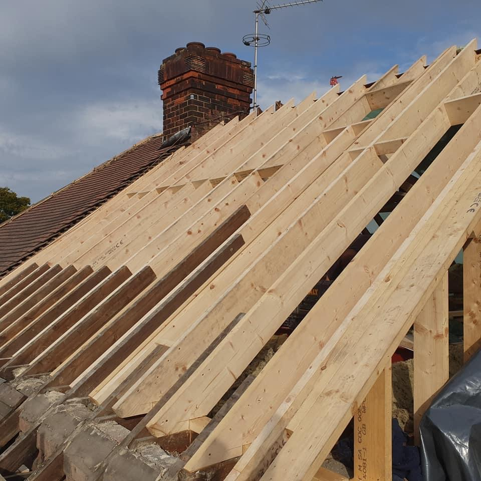 Loft Conversion in the process of being built