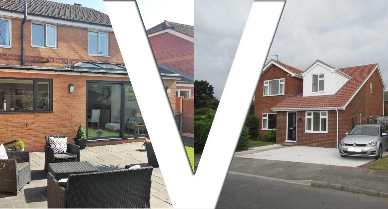 Loft conversion vs house extension